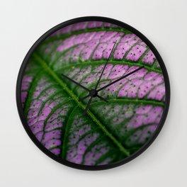 Violet Leaf Wall Clock