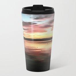 Sunset Reflected On Water Travel Mug