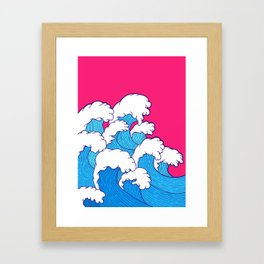 As the waves roll in Framed Art Print