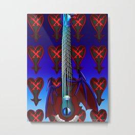 Fusion Keyblade Guitar #70 - Dark Keyblade & Soul Eater Metal Print