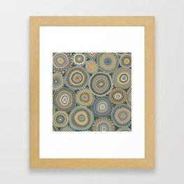 Boho Patchwork-Mineral Colors Framed Art Print