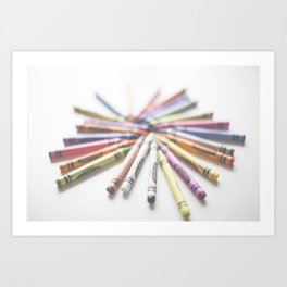 Crayon Love 2  Art Print