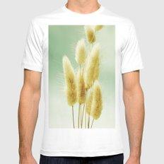 Golden Grass White Mens Fitted Tee MEDIUM