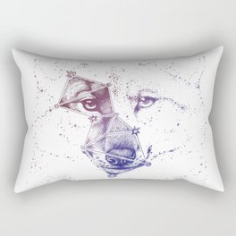 Wolf constellation (Lupus) || Color version Rectangular Pillow