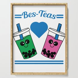 Show to the world that you and your bestfriend are tea lovers with this cute and adorable tee design Serving Tray