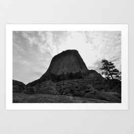 A Battle of Land and Sky Art Print