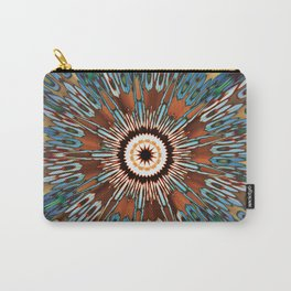 Teal Brown Kaleidoscope Carry-All Pouch