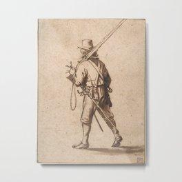 A Walking Musketeer, seen from behind Metal Print