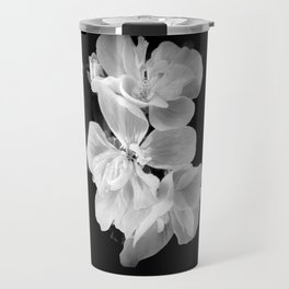 geranium in bw Travel Mug
