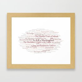 Books Everyone Should Read (Virgin-version) Framed Art Print