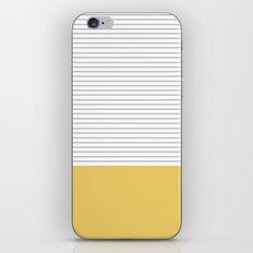 Minimal Gray Stripes - yellow iPhone & iPod Skin