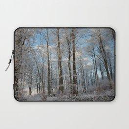 Snowy winter forest Laptop Sleeve