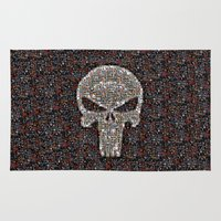 punisher Area & Throw Rugs featuring PUNISHER -  WAR ZONE by Raisya