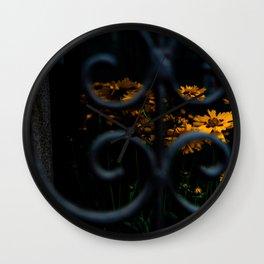 Daisies in the shadows Wall Clock