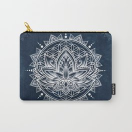 Lotus Mandala (white) Carry-All Pouch