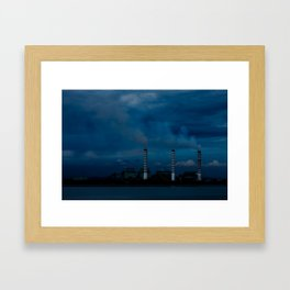 Smoke Stacks Framed Art Print