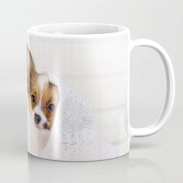 Cute puppy on pillows Coffee Mug