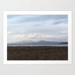 Evening Distant Mountains Art Print