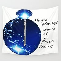once upon a  time Wall Tapestries featuring once upon a time  by grapeloverarts