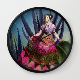 Blue Agave and Cacao Wall Clock