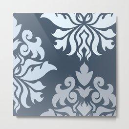Ornate Damask Art I – Blues (B) Metal Print
