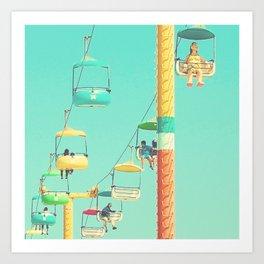 Sky glider Art Print
