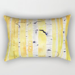 Autumn Birch Rectangular Pillow