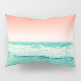 Aqua and Coral, 2 Pillow Sham