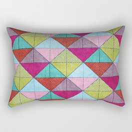 Colorful Seamless Rectangular Geometric Pattern V Rectangular Pillow