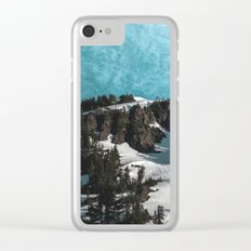 Mountain Morning Dew Clear iPhone Case