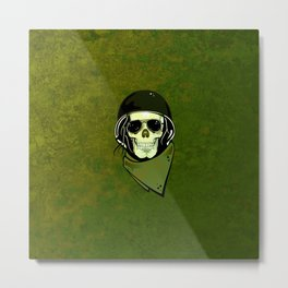 skull soldier Metal Print
