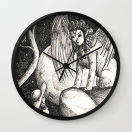 Oedipus and the sphinx Wall Clock