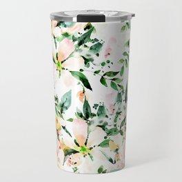 Flowered Travel Mug