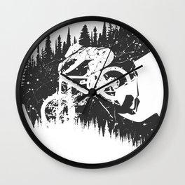 Black Fullface Wall Clock