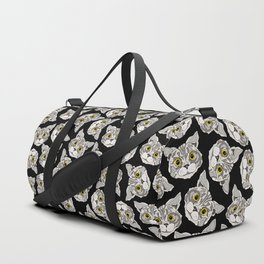 Happy Cats in Black Duffle Bag