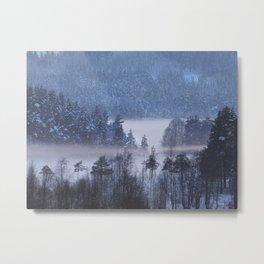 A steamy frozen lake Metal Print