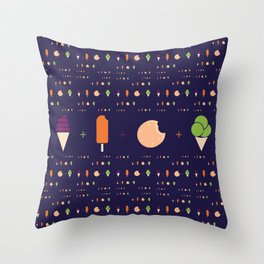 Gelati Throw Pillow