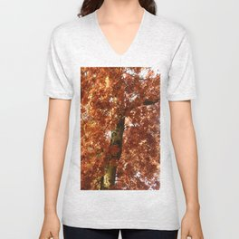 Fall around you, there are leaves. Unisex V-Neck