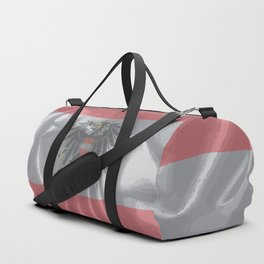 Silk Austrian Flag and Coat of Arms Duffle Bag
