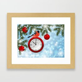 Christmas or New Year decoration Framed Art Print