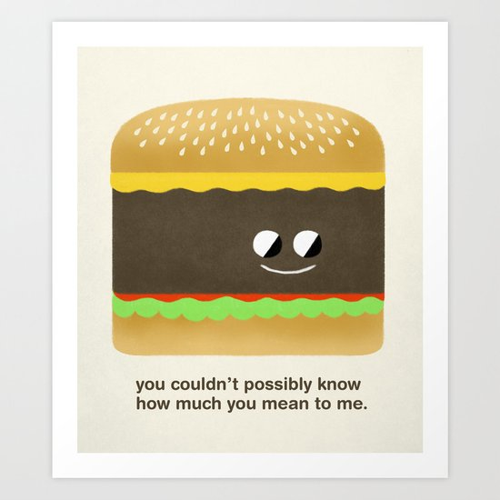 Cheesy Burger Art Print