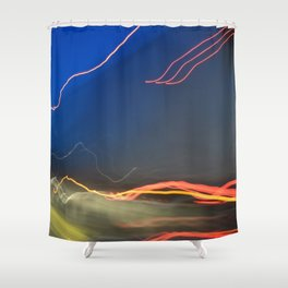 Highway Lights Shower Curtain