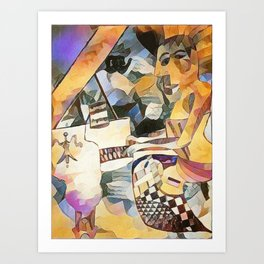Piano and Voice Art Print