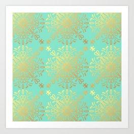 Elegance Golden Caramel Art Print