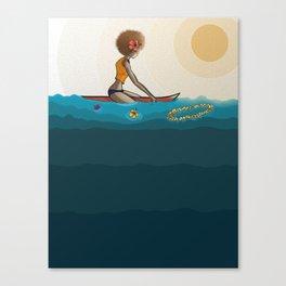 surfing in sunnies Canvas Print