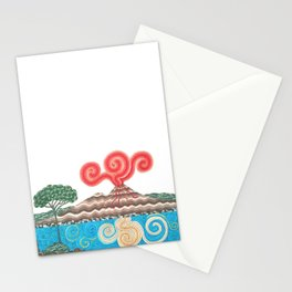 vesuvio con pino Stationery Cards
