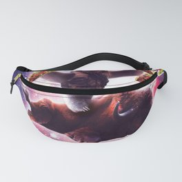 Cowboy Space Sloth On Wildebeest Unicorn - Taco Fanny Pack