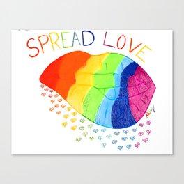 Spread love rainbow mouth Canvas Print