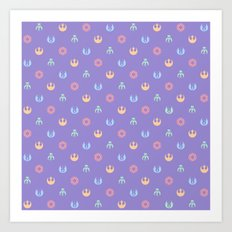 Lilac and Pastels SW Pattern Art Print