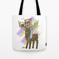 thranduil Tote Bags featuring Party Thranduil by BlacksSideshow